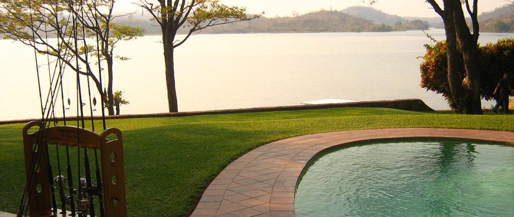 Peaceful mornings overlooking the Zambezi River at Ngwenya Lodge.